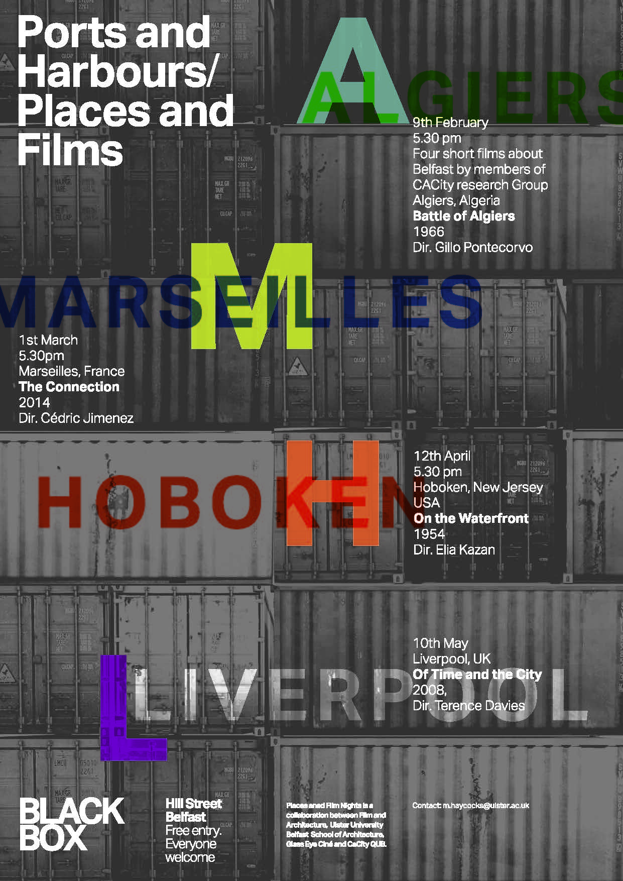 Ports and Harbours/ Places and Films @ The Green Room