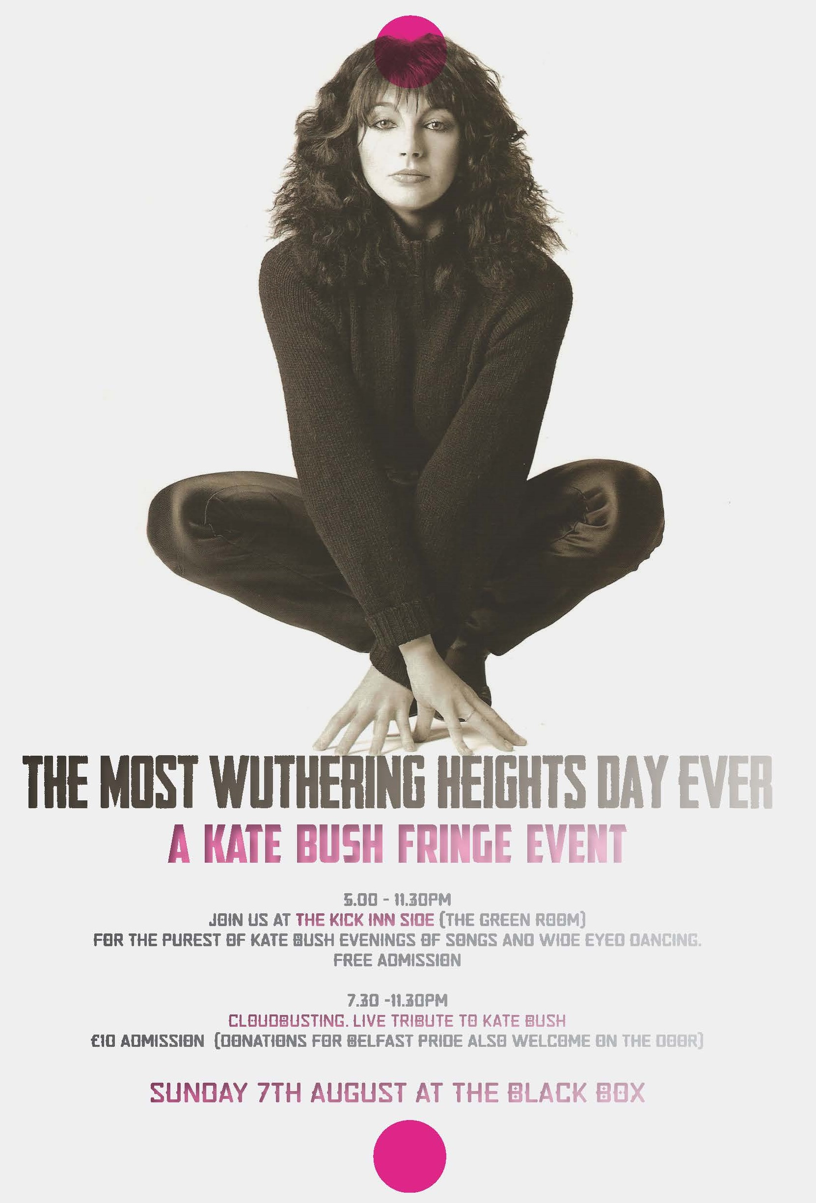 The Most Wuthering Heights Day Ever; A Kate Bush Fringe Event. @ The Black Box
