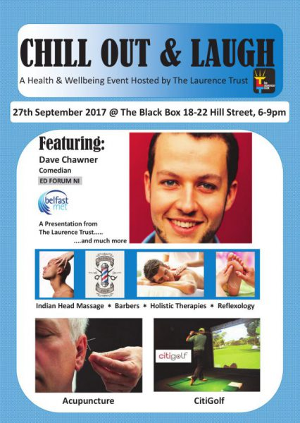 Chill out and Laugh- A Health and Wellbeing event @ The Black Box