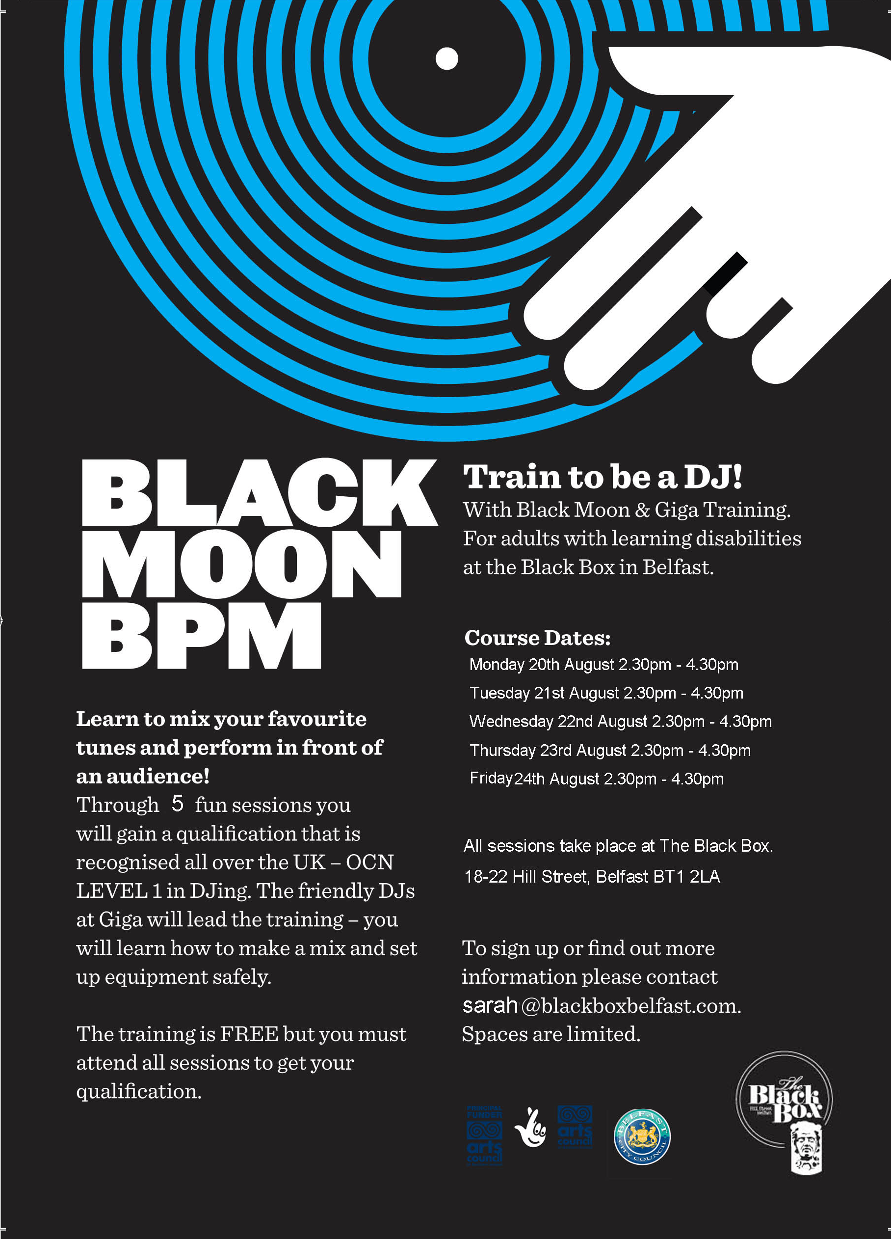 Black Moon BPM - Train to be a DJ! @ The Black Box