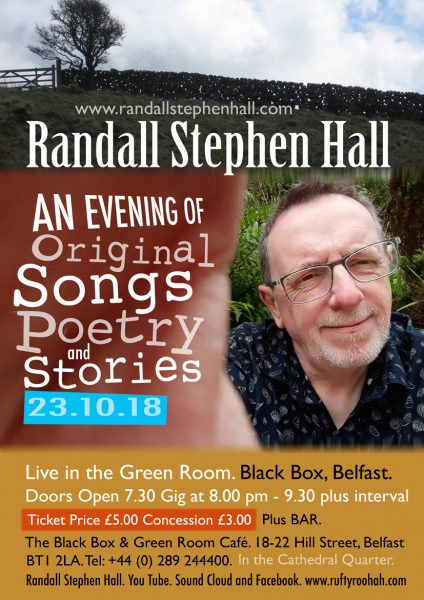 RANDALL STEPHEN HALL. @ The Green Room