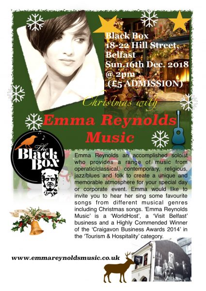 Christmas with Emma Reynolds Music @ The Green Room
